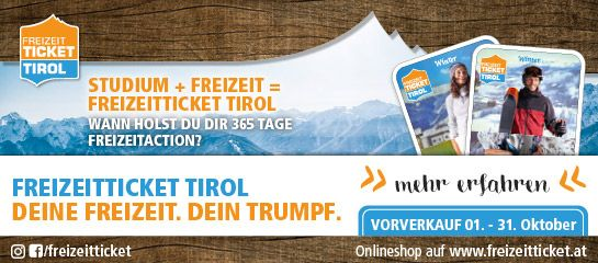 Freizeit Ticket Tirol